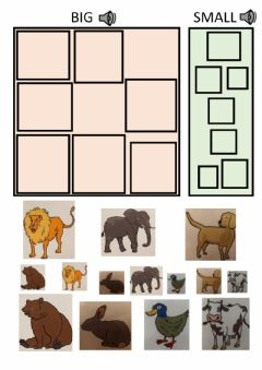 Interactive worksheet Big and small animals