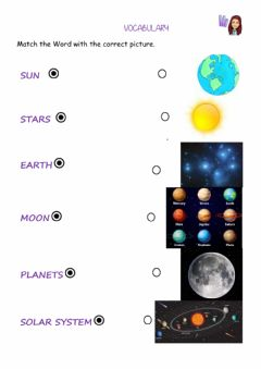 Interactive worksheet The sky- universe