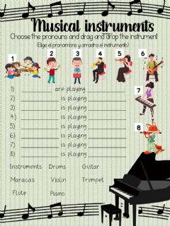 Ficha interactiva Musical instruments