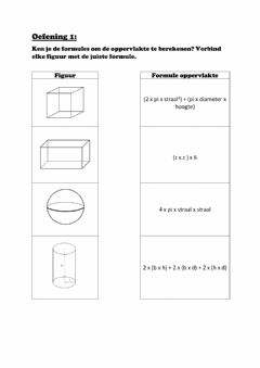 Interactive worksheet Ruimtefiguren