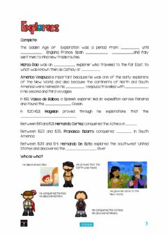 Interactive worksheet Explorers