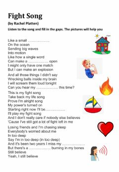 Interactive worksheet Fight Song