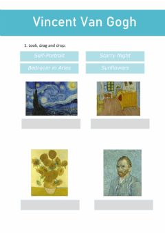 Interactive worksheet Artist - Van Gogh