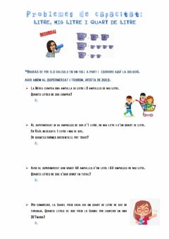 Interactive worksheet Problemes de capacitat