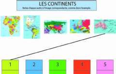 Interactive worksheet Les continents