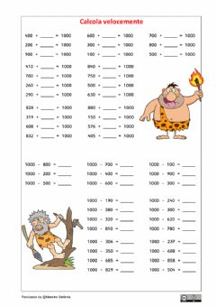 Interactive worksheet Formare il 1000 4