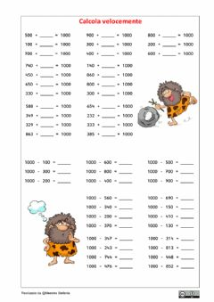 Interactive worksheet Formare il 1000 5