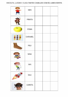 Interactive worksheet Sil·labes  13