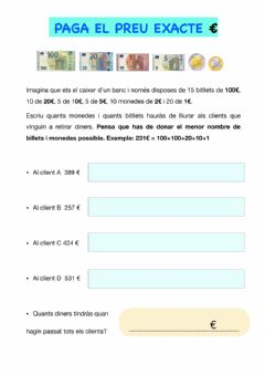 Interactive worksheet El Banquer