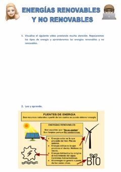 Interactive worksheet Energías renovables y no renovables