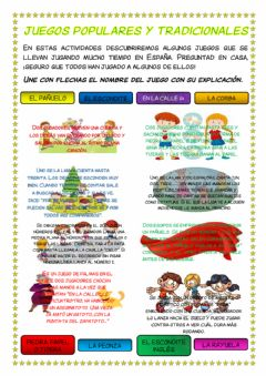 Interactive worksheet Juegos populares