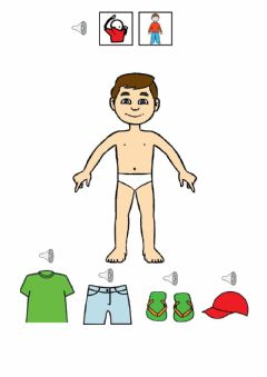 Interactive worksheet La ropa. vestir al chico.