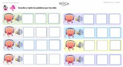 Interactive worksheet Memoria auditiva de 3 palabras