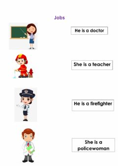 Interactive worksheet Jobs
