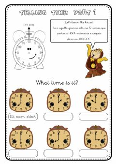 Interactive worksheet Telling time - 1