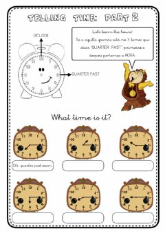 Interactive worksheet Telling time - 2