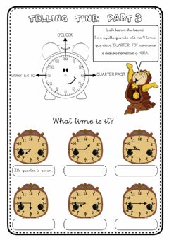 Interactive worksheet Telling time - 3