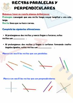 Interactive worksheet Paralelas y perpendiculares