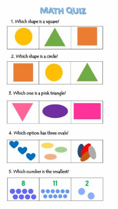 Interactive worksheet Shapes& Numbers