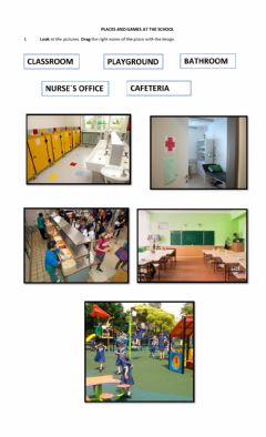 Ficha interactiva Places and games at the school- 2nd grade