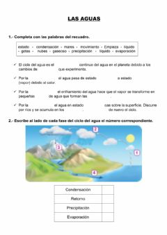 Interactive worksheet Las aguas