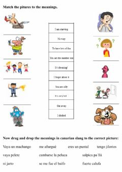 Interactive worksheet Canarian slang