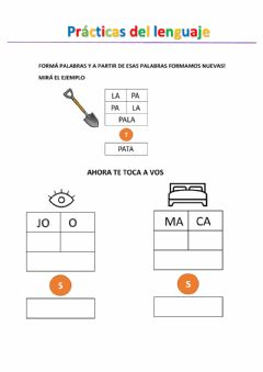 Interactive worksheet Formamos palabras