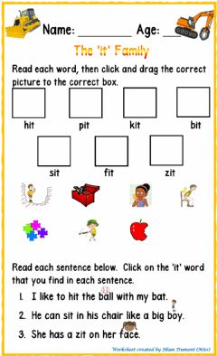 Interactive worksheet The 'it' Family