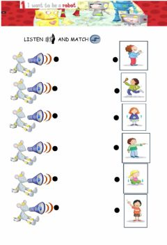 Interactive worksheet Listen and match. actions