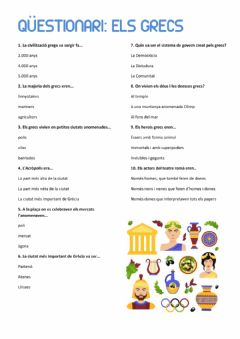 Interactive worksheet L'Antiga Grècia