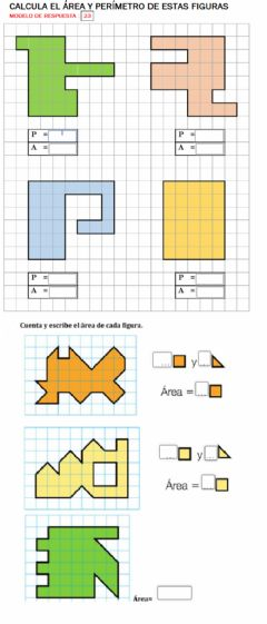 Interactive worksheet Área perímetro
