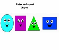 Interactive worksheet Listen and repeat shapes