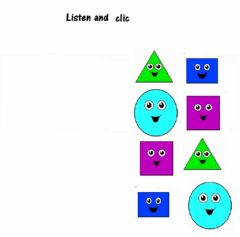 Interactive worksheet Listen and clic, shapes