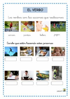 Interactive worksheet Verbo