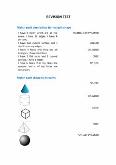 Interactive worksheet Maths revision test