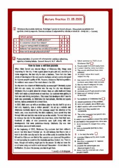 Interactive worksheet 21.05.2020 Matura Practice