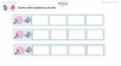 Interactive worksheet Memoria auditiva de 4 palabras