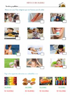 Interactive worksheet Hábitos de vida saludable