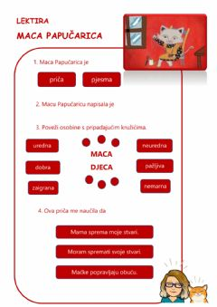 Interactive worksheet Maca Papučarica