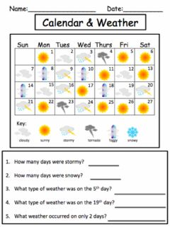 Ficha interactiva Calendar and Weather
