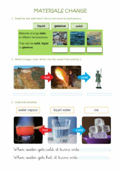 Interactive worksheet Materials & recycling