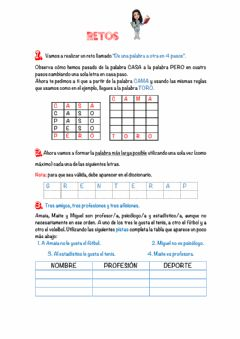 Interactive worksheet Retos