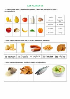 Interactive worksheet Les aliments
