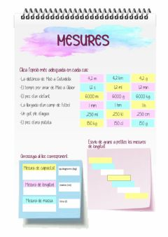 Interactive worksheet Mesures