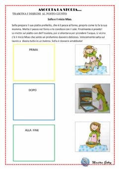Interactive worksheet Sofia e micio Miao