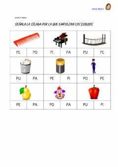 Interactive worksheet Letra p: ficha 2