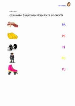 Interactive worksheet Letra p: ficha 3