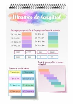 Interactive worksheet Mesures de longitud
