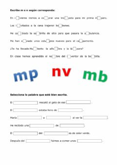 Ficha interactiva Uso de mp - mb - nv