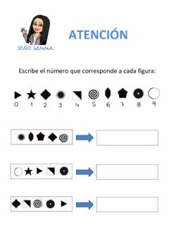 Interactive worksheet Atención